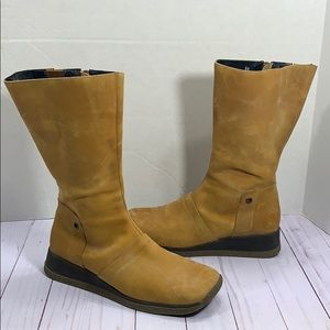 M.O.D. leather zip up boots